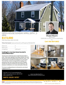 Open house ! Sunday April 28th 2-4 pm