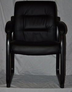 Bonded Black Leather Guest Chair Kingston Kingston Area image 2