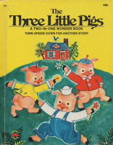 Two in One Wonder Book Little Red Riding Hood and 3 Little Pigs