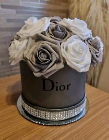 Rose flower hat box