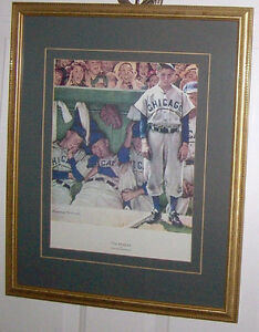 Norman Rockwell The Dugout 11 X 15 Inch Print Matted and Framed London Ontario image 1