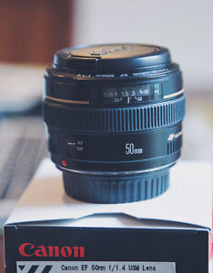 PERFECT CONDITION Canon EF 50mm F 1.4 USM Lens