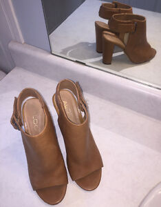 BROWN ALDO HEELS - WORN ONCE