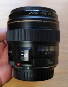 Lentille Canon EF 100mm f/2 USM
