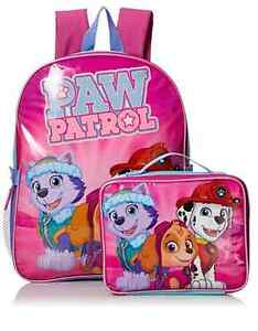 New With Tags- Paw Patrol Backpack and Lunch Kit Set