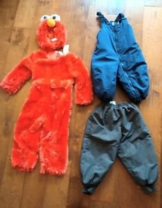 Elmo costume, snowpants (18 months and size 3)