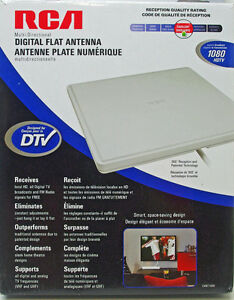 Digital Flat HDTV Indoor Antenna RCA CANT1400 New