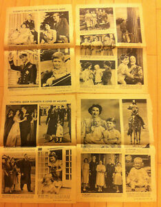 DEATH OF KING GEORGE VI - 1952 CLIPPINGS
