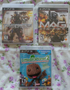 PS3 Games (Transformers, MAG, Little Big Planet 2)