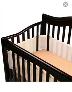 Breathable Baby mesh crib bumper