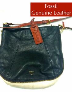 Fossil Genuine Leather Key-Per Crossbody