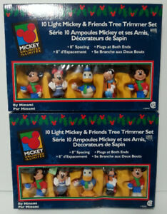 Christmas - Mickey & Friends 10-light Tree Trimmer Sets - $25 ea
