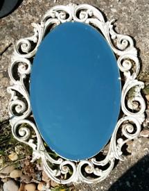 Mirror antique vintage bevelled edge rococo type frame
