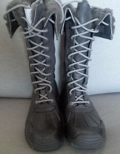 UGG Adirondack Tall Winter Boots in Grey - NWOT