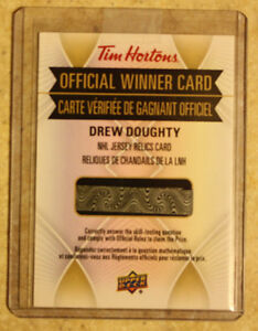 2016-17 Tim Hortons - Jersey relics redemption - Drew Doughty