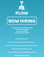 PLOW, New and Unique platform for snow removal, Info Session