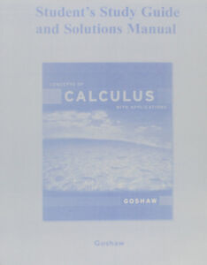MAT1308 - Solution Manual for Concepts of Calculus