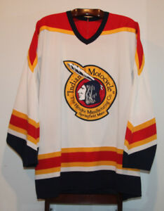 CCM INDIAN MOTORCYCLE HOCKEY JERSEY #23 SIZE ADULT XXL