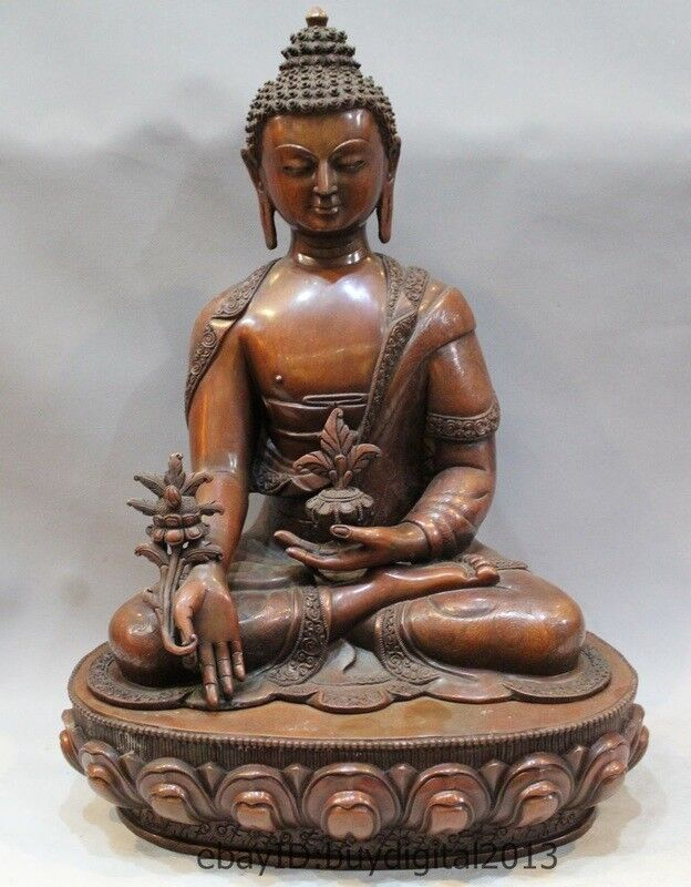 Tibetan Buddhism Joss Bronze sakyamuni Shakyamuni Amitabha Buddha Bowl Statue
