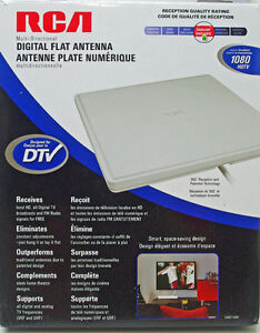 RCA Digital Flat HDTV Indoor Antenna CANT1400 New