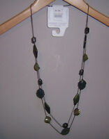 brand new: fashion stone green Beaded Long Necklace