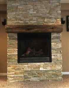 Mantel Piece - Hand-hewn Barn Timber