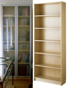 Ikea Billy Bookcase with frosted glass doors.
