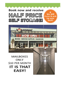 Cluttered Homes DONT Sell-1/2 price SPECIAL on Storage UNITS
