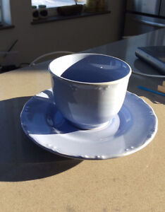 8 Vintage Cornell Trading Cups and Saucers Set