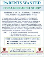 PARENTS WANTED, UNIVERSITY STUDY, WE $ PAY $ YOU!