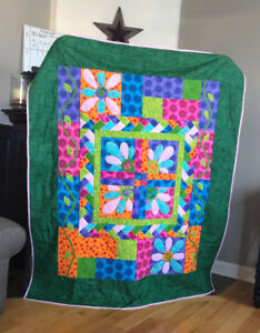 Handmade Quilt, Single bed size, plenty of appliqué and detail.