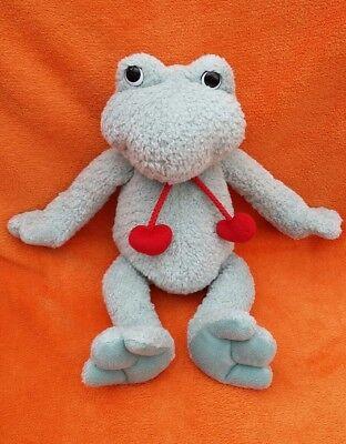 "Gund Green Frog Soft Toy Comforter Cuddly Toy Plush Stuffed Animal 13"""