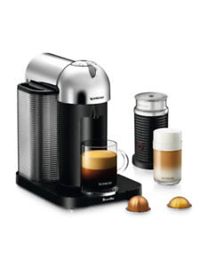 Nespresso Vertuoline Chrome and Milk Frother Combo $300 obo