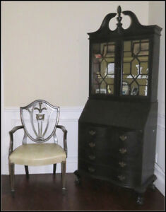 Secretary Bookcase and Chair