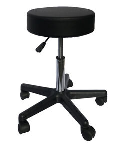 Brand New Deluxe Round Height Hydraulic Adjustable Rolling Stool