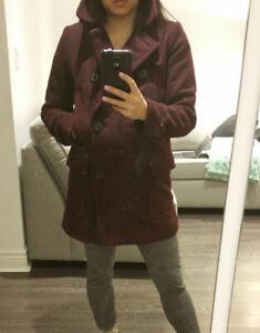 Gap: Women's Deep Burgundy Dress Coat / Jacket - size: Small