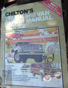 Chilton's Manual for Trucks and Vans 1975-1982 Kitchener / Waterloo Kitchener Area image 1