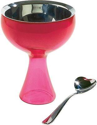 A di Alessi - AMMI01S  F Big love, Ice cream bowl, ice cream spoon - Fuchsia Big Love Ice Cream Bowl