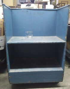 Vintage Industrial Factory Cart- Wood with metal castors