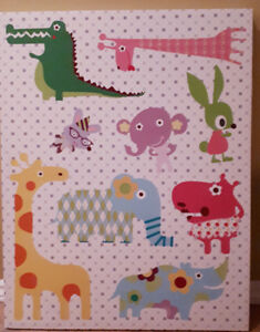 Wall art for baby/kids room - stretched canvas!!!!