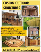 Decks, Fences, Sheds, Gazebos, and Other Outdoor Structures