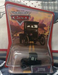 DISNEY CARS Lizzie Ford Model T diecast 1:55 sealed on the card