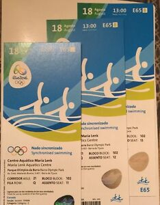 SELLING RIO 2016 OLYMPIC TICKETS FOR TWO PEOPLE AUG 16-19
