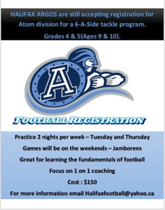 Argos football club looking for atoms