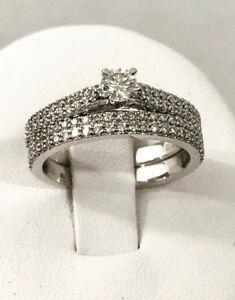 14k white gold diamond engagement ring set  ^Certified  - $5,400