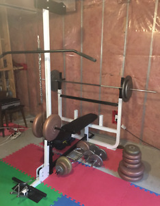 Workout bench with weights (Northern Lights adjustable)