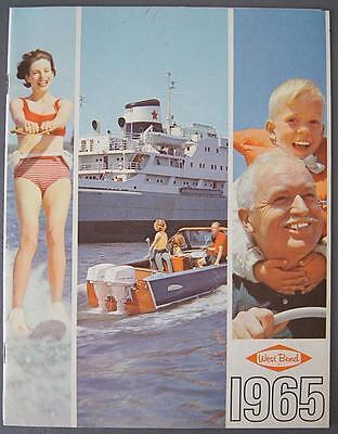 Original West Bend Shark Outboard Motor Brochure & Price List 1965 CANADA