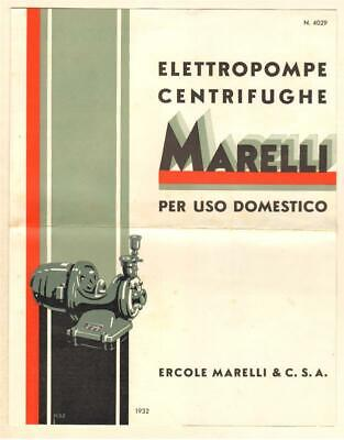MARELLI - ELETTROPOMPE CENTRIFUGHE PER USO DOMESTICO 1932