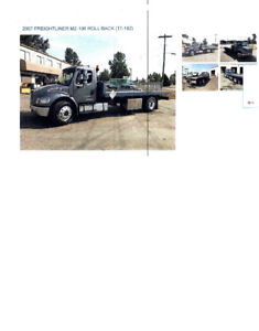 2007 Freight liner M2-106 Roll Back Tow Truck