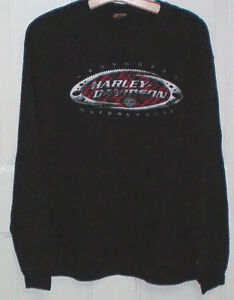 Harley 2 Sided Long Sleeve T Shirt size Large
